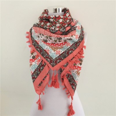 Woman Scarf Square Scarves Printed Women Wraps Winter Autumn Ladies Long Shawl Tassel Scarf
