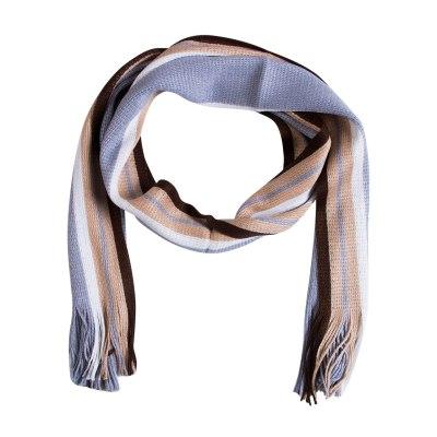 New Mens Cashmere Scarf Winter Warm Soft Fringe Striped Tassel Long Shawl Wrap