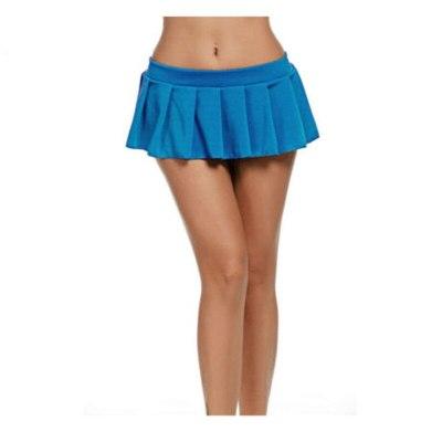 Solid Women Pleated Mini Short Night Club Dancing Skirt