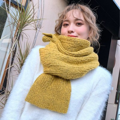 Soft Thick Winter Warm Solid Knitted Women's Scarves Winter Warm