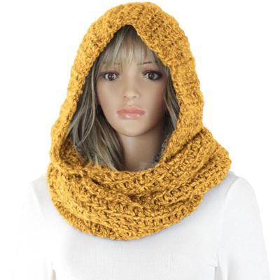 Ladies Fashion Knitted Warm Hat Ladies Scarf Set Cap
