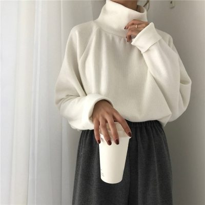 Turtleneck sweater autumn winter Knitted Jumper Women's Sweaters Casual Loose Long Sleeve Christmas