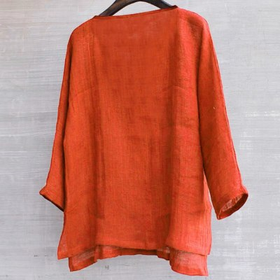 Breathable Comfy Solid Color Long Sleeve Loose Harajuku Casual Blouse