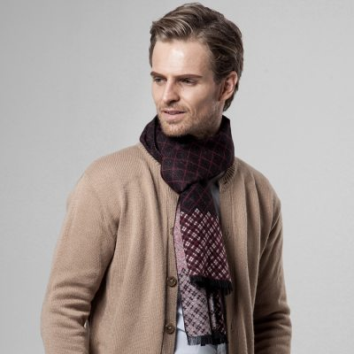 New men's scarf autumn and winter classic plaid scarf