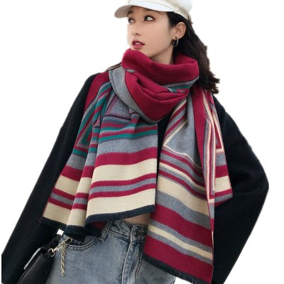 Ladies Winter Poncho Faux Cashmere Female Shawl Scarve
