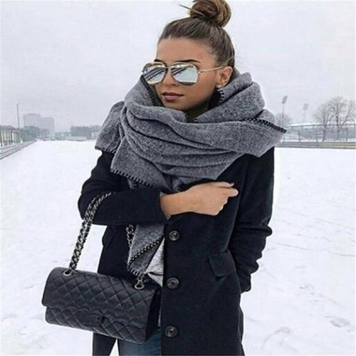 Female Solid Color Wild Shawl Scarves Casual Fashion Accessories