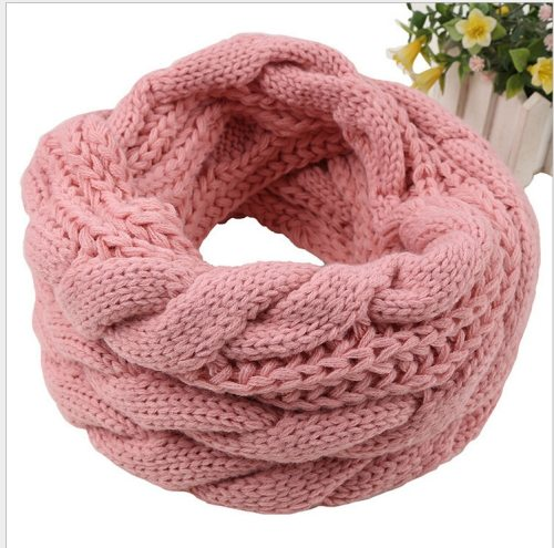 Ladies winter knitted crochet scarf