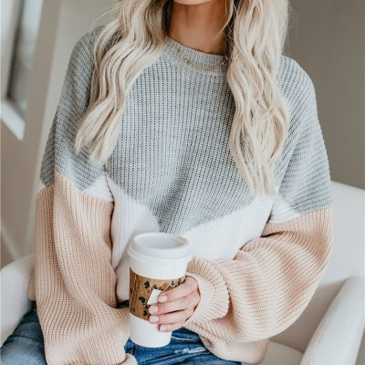 Long Sleeve o-neck Woman Pullovers Autumn Winter Casual Sweater