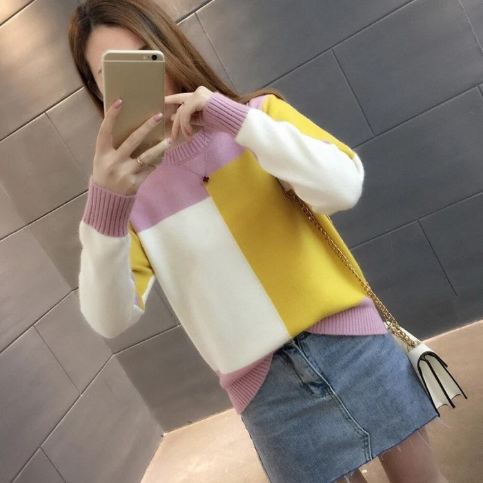 Sweater Women Winter Warm Knitted