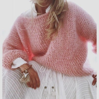 Winter Autumn Women Solid Knitted Sweaters