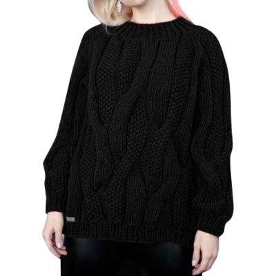 Womens Turtleneck Sweater Women's Solid Twist Knit Top Pullover