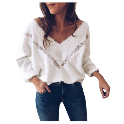 Woman Sweater Spring Autumn Long Sleeve Hollow Sweater