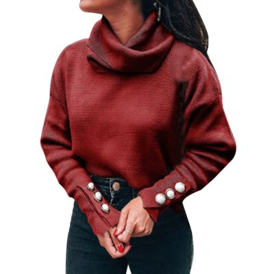 Turtleneck Sweaters Women Pullover Oversize Sweater