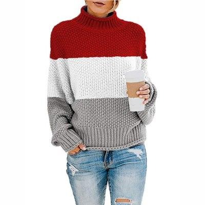 Turtleneck Sweaters Women Autumn Winter Casual JumpersSweaters Warm