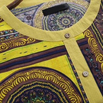 Flowers Print Blouse Women Long Sleeve O-neck Loose Top Shirts