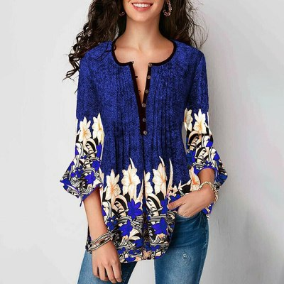 Summer Women Lace Short Sleeve A-Line Swing Loose Tunic Tops