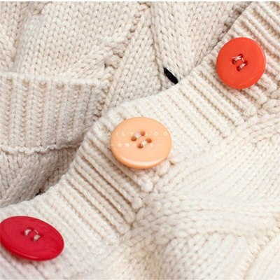 Autumn Winter Women Cardigan Warm Knitted Sweater Pocket Embroidery Fashion Knit Loose Sweaters