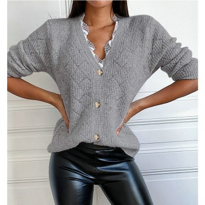 Women Winter Autumn  Casual Knitted Lace Splice Sweater