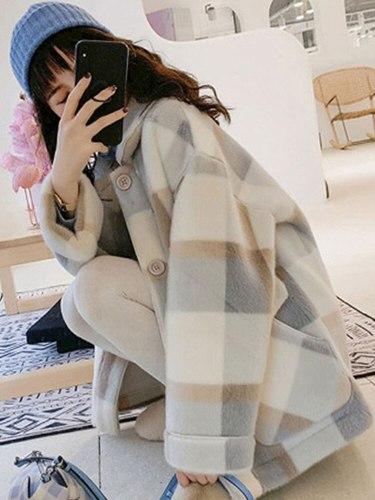 New Mink Fleece Outerwear Women Short Winter