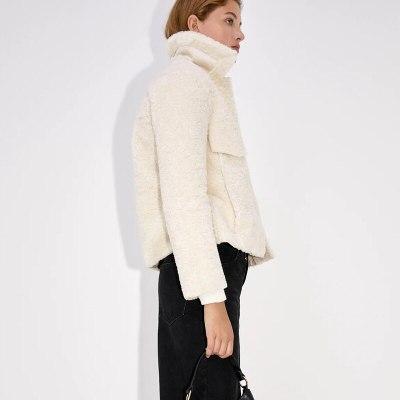 New Lamb Hair Windbreaker Lamb Coat Warm Winter Jackets Coat