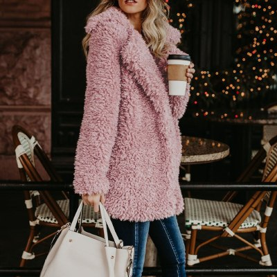 Womens Winter Jacket Ladies Warm Faux-fur Coat Jacket Long Thick Cardigan Outerwear
