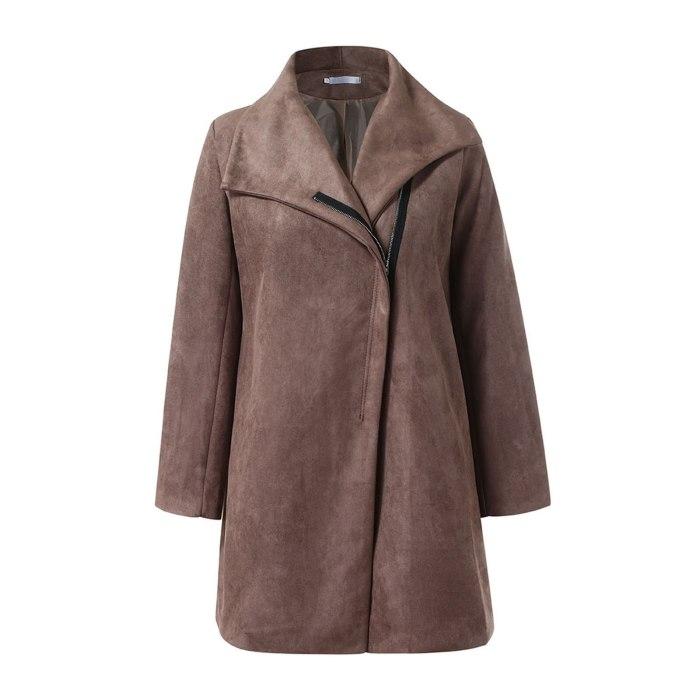 Women Long Woolen Autumn Winter Coat Jacket