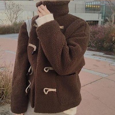 Faux Fur Coat Fuzzy Jacket  Winter  Cropped  Women