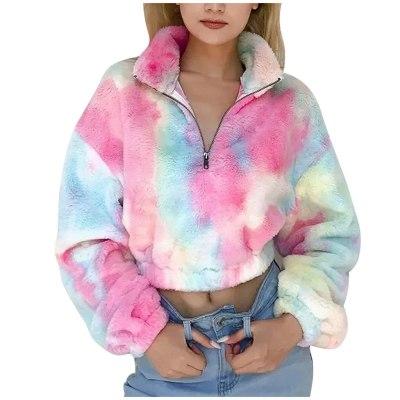 Casual Warm Soft Zipper Fur Jacket Plush Overcoat