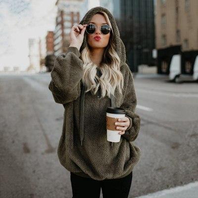 Winter Hoodies Warm plush Zipper Fur Coat Winter Coat