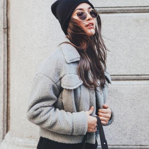 New Winter Single Breasted Imitation Lamb Hair Short Thicker Warm Coat