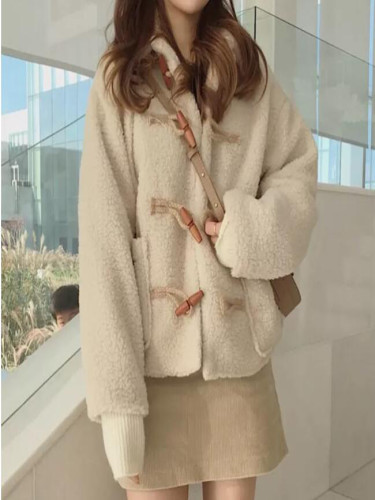 Faux Fur Coat Fuzzy Jacket  Winter  Cropped  Women