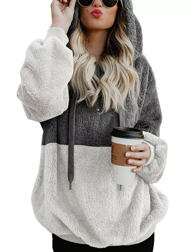 Autumn Winter Fashion Open Stitch Hooded