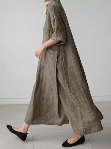 Women Vintage Cotton Linen Dresses