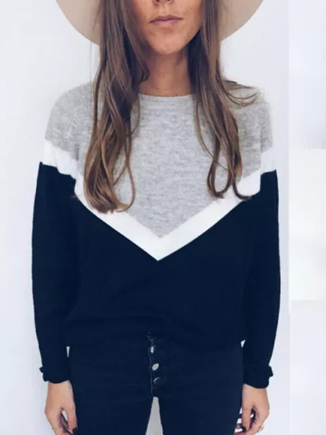 Women's Ladies Long Sleeve Round Neck Loose Autumn Casual Tops Blouse Shirts