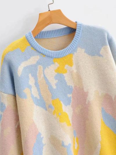 Women Preppy Style Candy Color Knitted Sweater