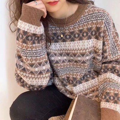 Retro Korean Loose Winter Lazy Wind Sweater