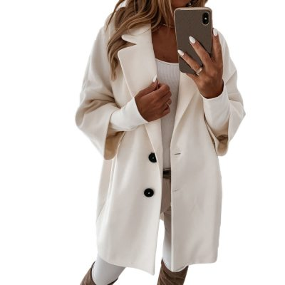 Women Long Woolen Autumn Winter Coat Jacket