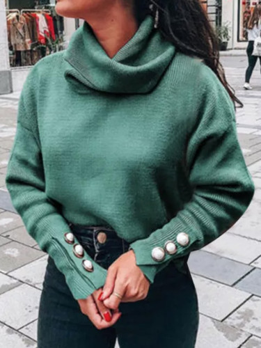 Turtleneck Sweaters Women Pullover Oversize Sweater