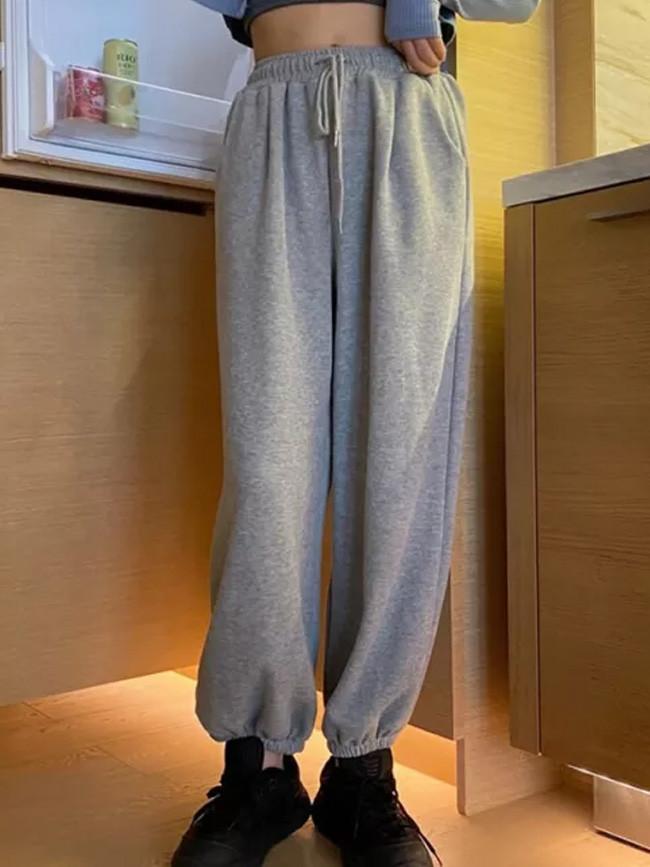Women Loose Pants Slacks Wide Pants Sweatpants Trousers