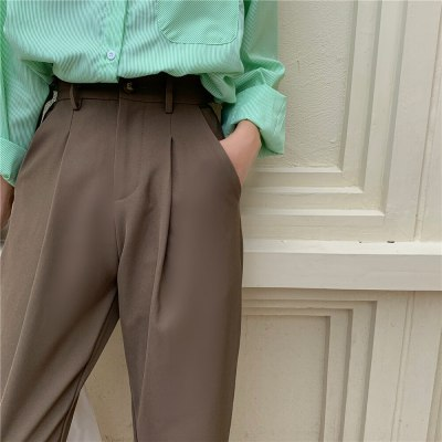 New Autumn Solid Fashion Loose Suit Trousers Female