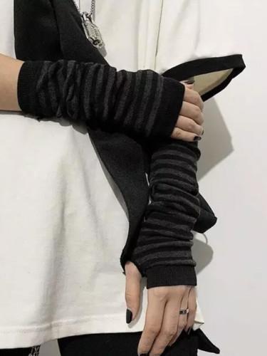 Long Fingerless Gloves Cuff Sport Outdoor Elbow Length Mittens Cool Stretch winter Arm Warmer
