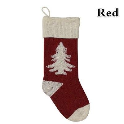 Christmas Socks Pendant Knitted 3D Christmas Tree Socks  Christmas Bags Stocking Stuffers Gift Bag