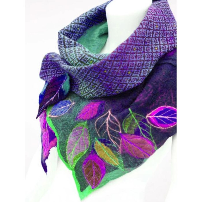 Women's Warmth In Autumn And Winter Vintage Leaves Print Scarves Shawl