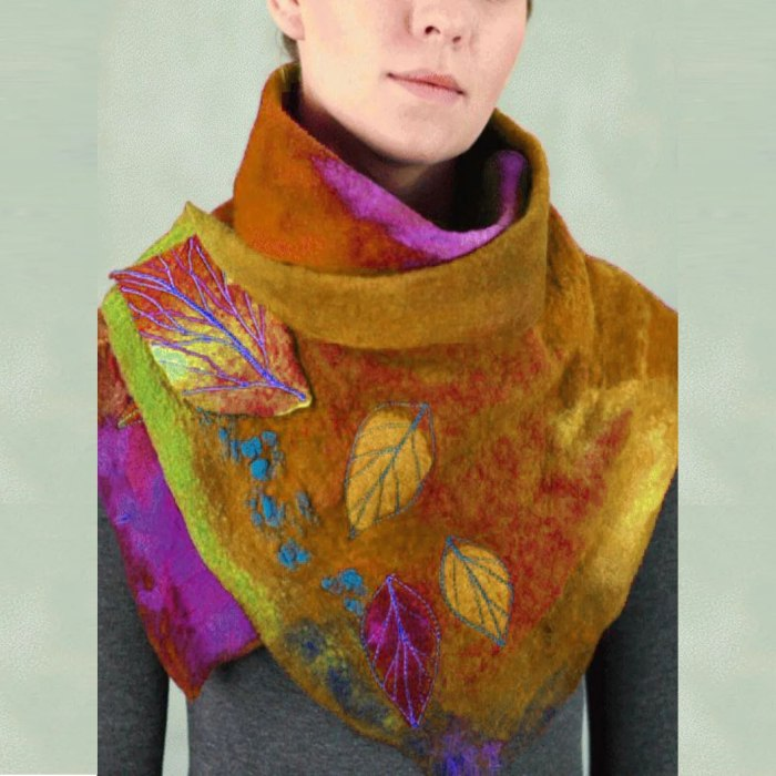 Women's Scarf Fashion Multi-color Printing Button Soft Wrap Casual Warm Scarves Shawls