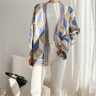Women's Sweaters Autumn Winter Fashionable Buttons Casual V-Neck Oversize Cardigans