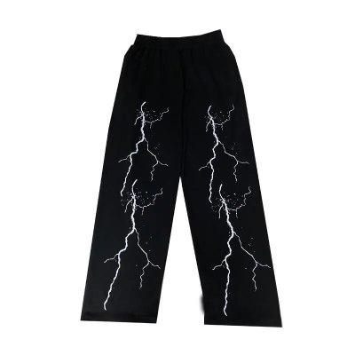 Women's Dark Lightning Print Casual Pants