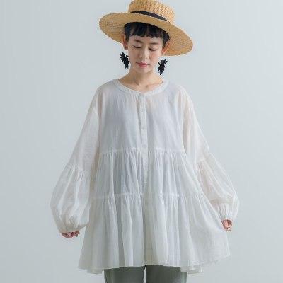 Women Blouse Lantern Sleeve Autumn Casual Ruffles Shirts Loose Fashion Tops