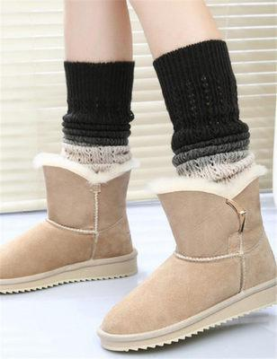 Soft Cashmere Gradual Colors Heap Foot Sleeves Autumn And Winter Warm Knitted