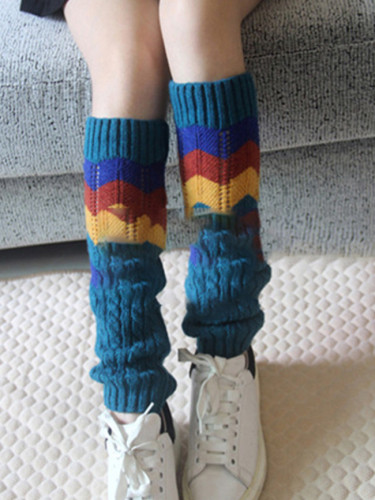 Women Fashion Hollow Leg Warmers Knitted Woolen Legwarmers Boot Cuffs