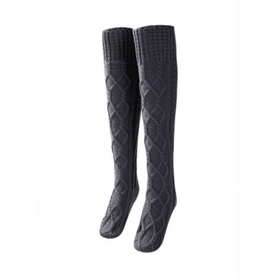 Women Knit Extra Long Boot Socking Over Knee Thigh High Warm Autumn And Winter